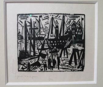 Lyonel Feininger, Port, 1919 xylographie. Collection privée