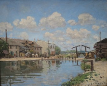 Alfred Sisley, Le Canal Saint Martin, 1872, Musée d'Orsay