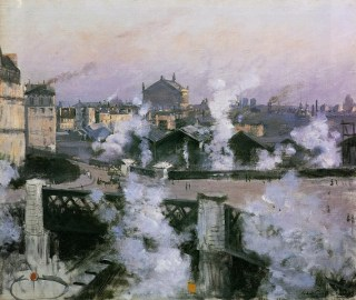 Norbert Goeneutte, Le Pont de l'Europe et la gare Saint-Lazare, 1888, The Baltimore Museum of Art.