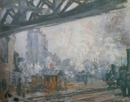 Claude Monet, La gare Saint-Lazare, sous le pont de l'Europe, 1877, collection particulière.