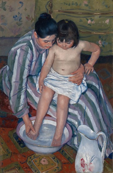 Mary Cassatt, la toilette de l'enfant, huile sur toile, 1893, Chicago, Art Institute