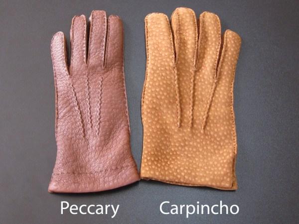 pelle di pecari vs pelle di carpincho