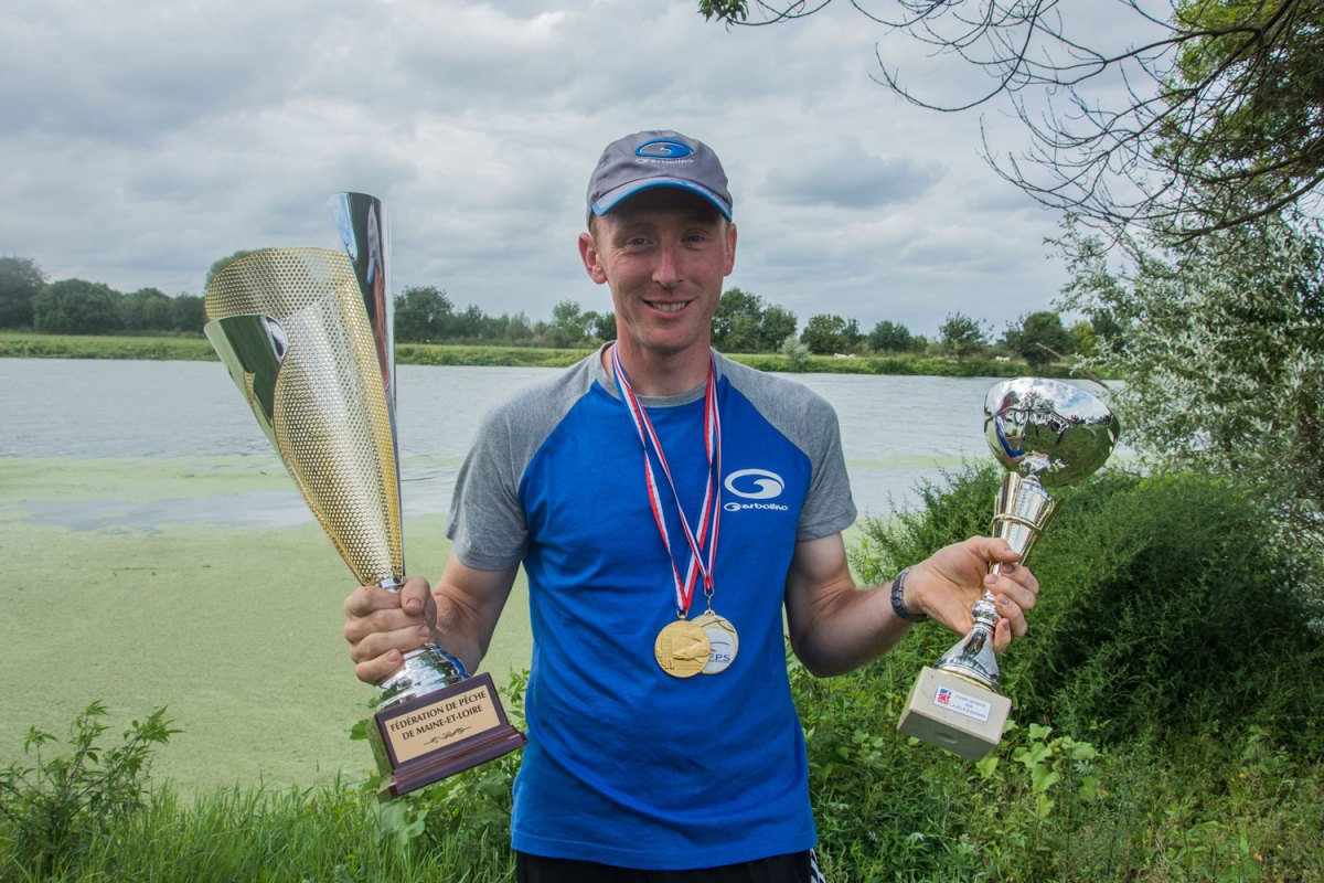 Mickael Letscher champion de France de pêche au feeder 2018.