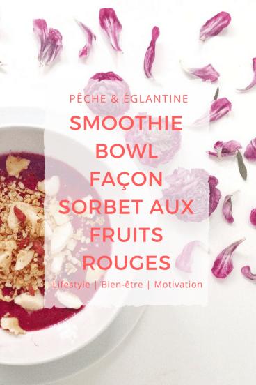 Smoothie bowl façon sorbet aux fruits rouges - Pêche & Eglantine