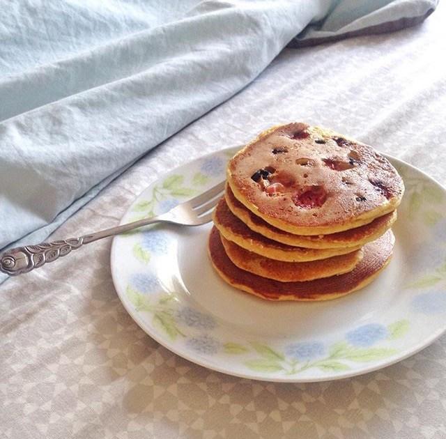 Idées de petits déjeuners sains, rapides et gourmands - Recettes de petits déjeuners équilibrés - Pancakes express sans bananes