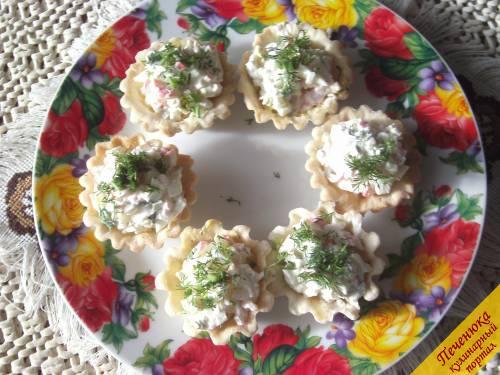 Тарталетки с крабовыми палочками (пошаговый рецепт с фото ...