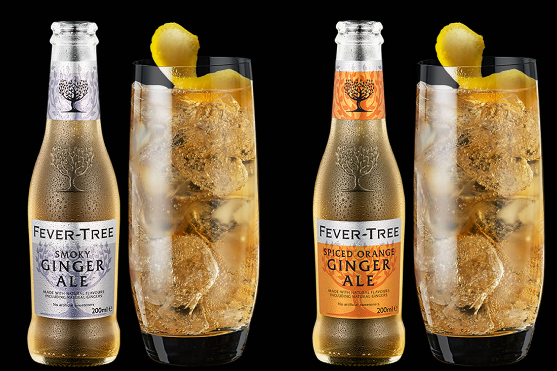 Fever Tree ginger ales come in 4 flavours