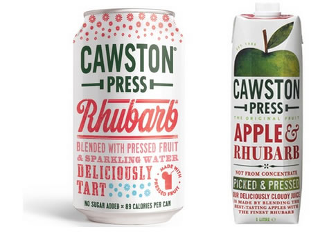 Cawston Press sparkling drinks in cans or fruit juice in tetra paks