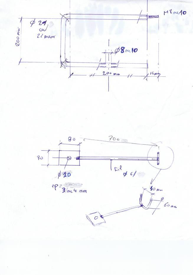 plan treuil pour ligne de traîne