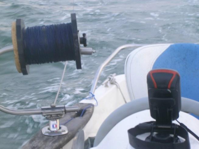 enrouleur de ligne de traine en pêche