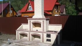 Уличная печь из гиперпрессованного кирпича. Новосибирск. Красный яр.