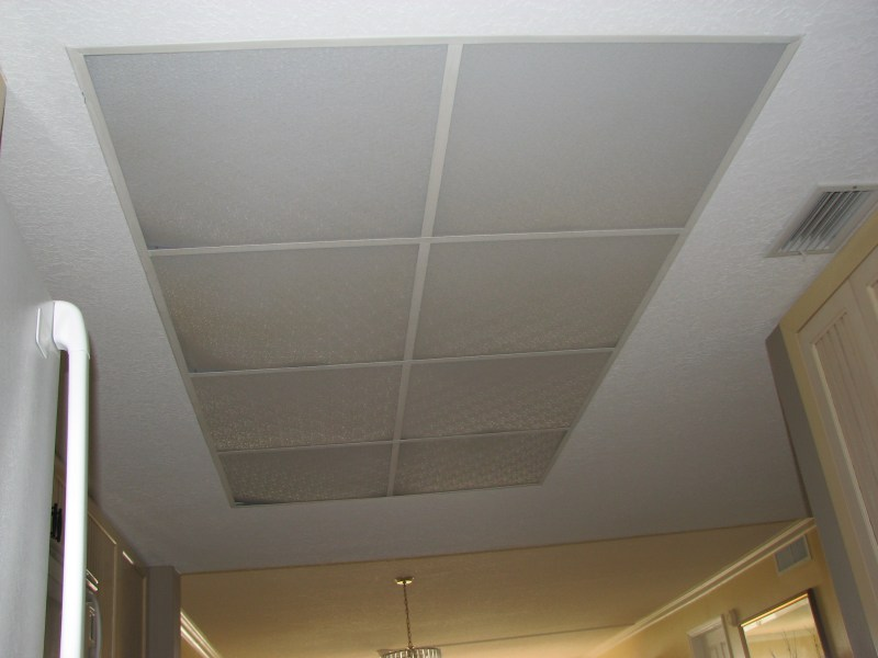 What to do with my old kitchen drop ceiling lighting  Kitchen Remodel Cocoa Beach condo kitchen ceiling light  Before