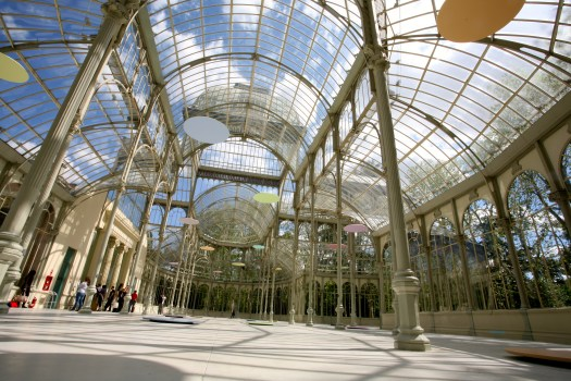 Conservatory in Retiro Park which now houses some modern art. I had to look very hard to see it as well.