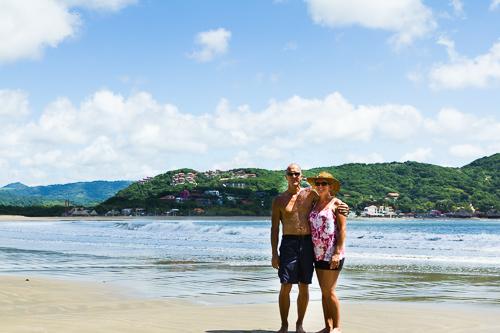 Our last walk down the beach in San Juan del Sur.