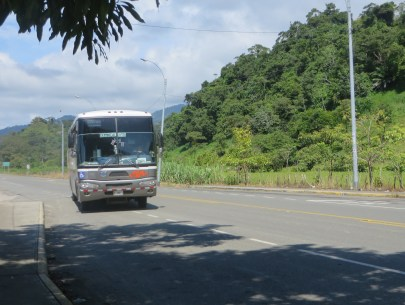 Our bus arriving to take us to Dominical.