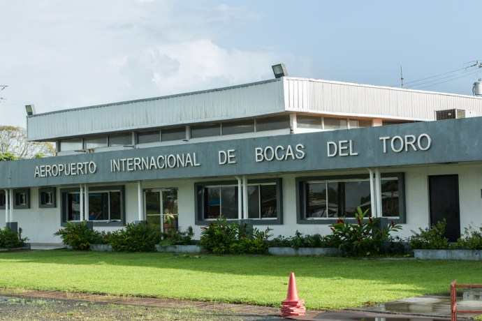 Our arrival at the airport in Bocas del Toro.