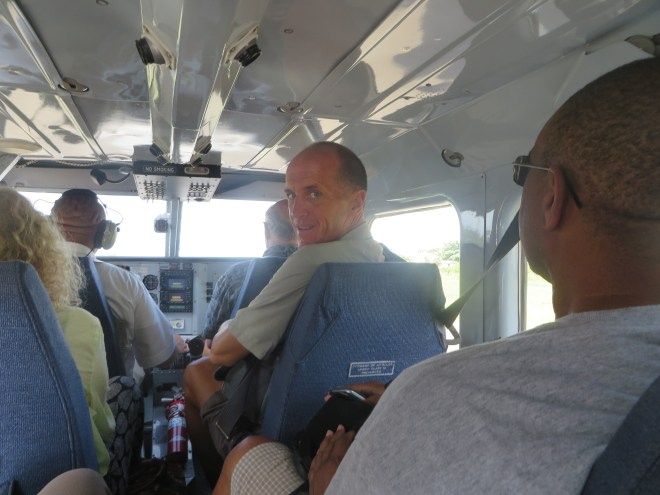 Getting ready to depart San Pedro, Belize on board Tropic Air.