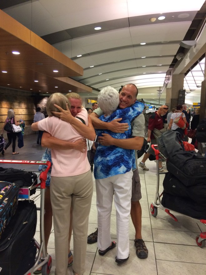 There is nothing quite like the hug from your mother when you have been away for 21 months.