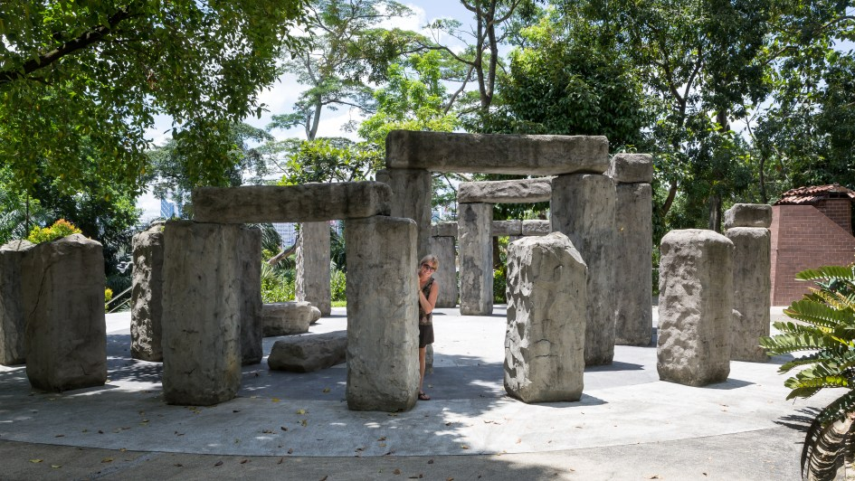 The observatory in the gardens has a miniature stonehenge to help understand some of the history of astronomy.