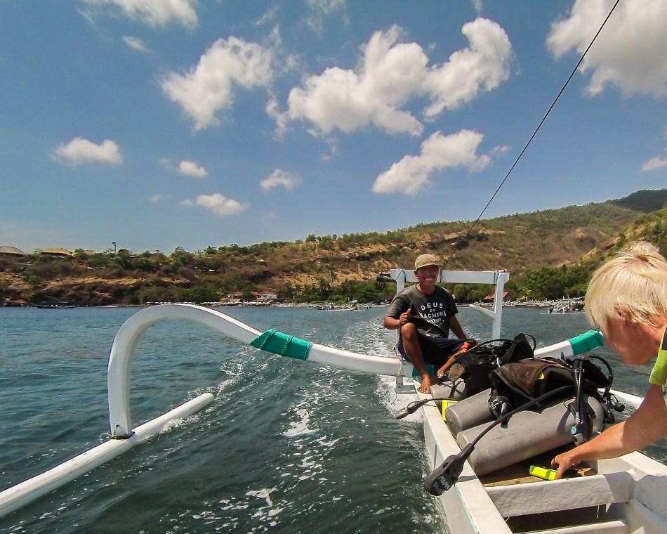 Dive boat in Amed