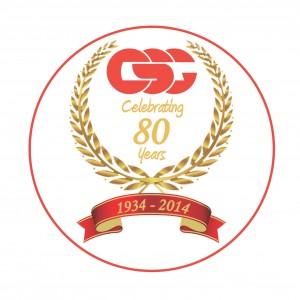 CSG's 80th Anniversary logo