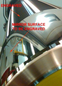 JacoTech Ultra Mirror Finish Cylinder With Partial Lenticular Engraving