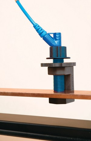 DRUMMOND-G-clamp-action-blue-with-blue-lead