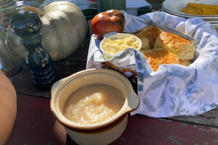 scones, pumpkin soup