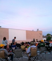 Belcourt--the big white box is the screen