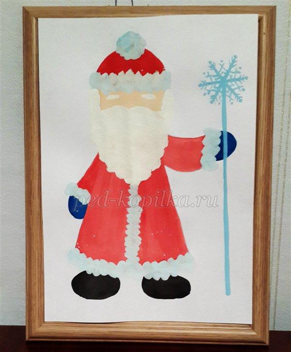 サンタクロースは子供のためのレッスン6-7歳のレッスンを描く