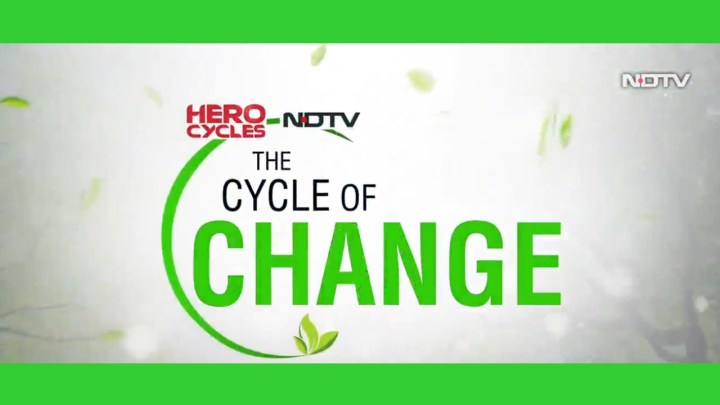 NDTV TO TELECAST A SPECIAL PROGRAM 'THE CYCLE OF CHANGE'