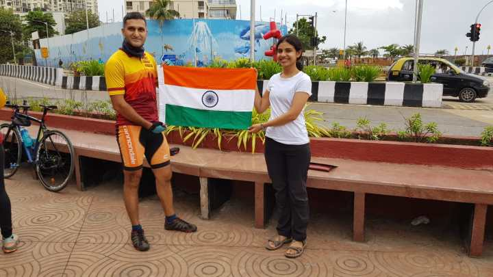 WOMAN CYCLIST JOINS INDIAN ARMY