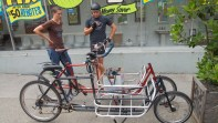 After geeking out on the cargo bikes...
