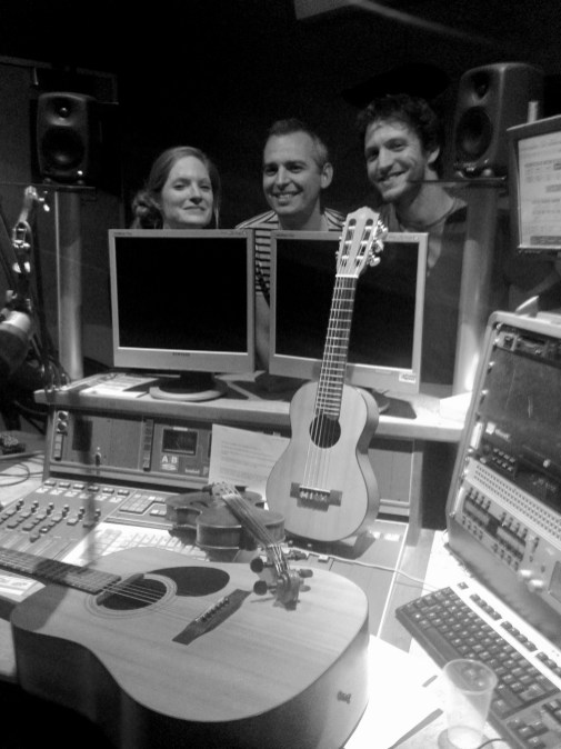 Inside the studio at BBC Radio Bristol