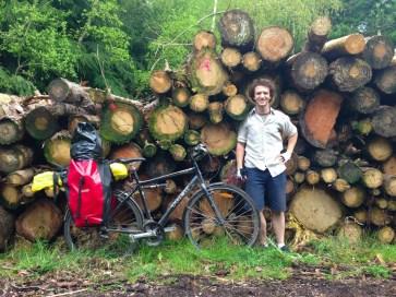 Tim Graham and his bike