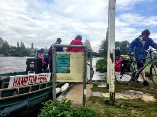 Crossing the River Thames via the Hampton Ferry, tour 3