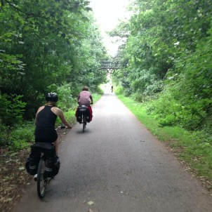 The lovely bike path between Bath and Bristol - we love sustrans, tour 2