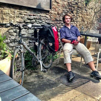 Tim taking some time out in Frome, tour 2