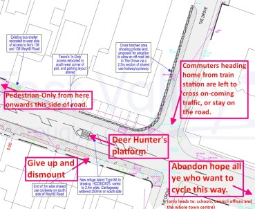There's a myriad of defects in the council's plans - and this is just 1 of 8 sheets of them! (click for bigger picture)