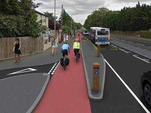 Hard-segregated cycle lane proposal for Cambridge