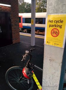 Now there is even fewer places to park a bicycle on the platform.