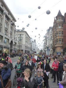 Hundreds of people marched down Oxford Street earlier this month demanding the government invest in roads infrastructure.