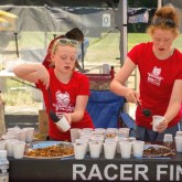 The raddest volunteers ever! We'll call it Ginger-Aid at the food station. [P] BCBR