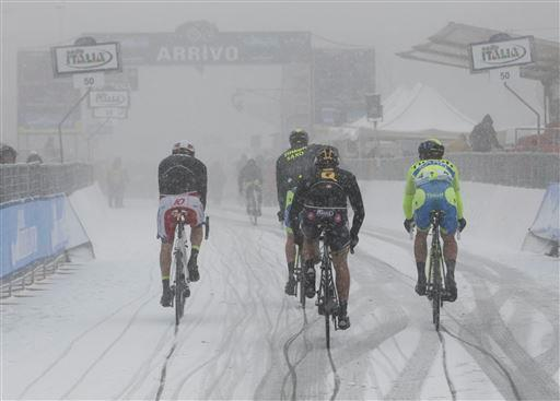 Stage 5 last year was not cancelled, but organizers were wiser this year [P] Cor Vos
