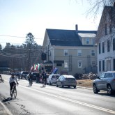 The town of East Burke, home of Kingdom Trails, was awash in cyclists