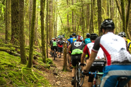 Jack's Trail with 1,200 riders... Traffic Jam anyone?