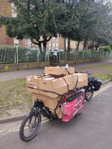 Early days in Lambeth with cardboard boxes