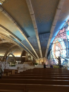 From inside the womb of the Upper Church of St. Pio of Pietralcina