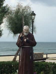 Padre Pio in Sperlanga, on the west coast 300 kilometers away from the final pilgrimage destination in San Giovanni Rotondo