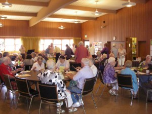 A church potluck at Eastminster church in Portland--2011